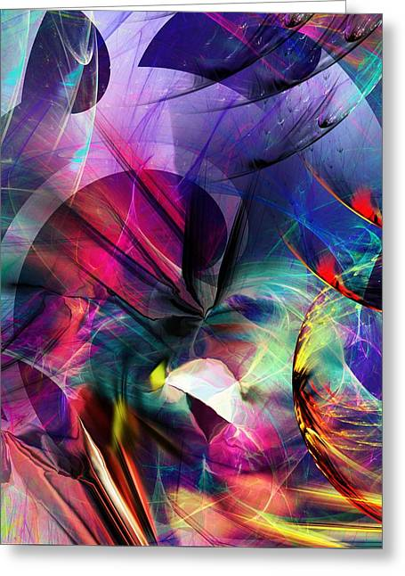 Greeting Card featuring the digital art Lost In Hyperspace by David Lane