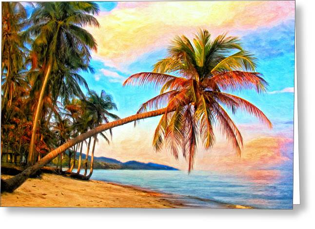 Lost In Paradise Greeting Card by Michael Pickett