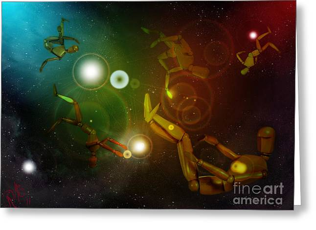 Lost In Space Greeting Card by Rosa Cobos