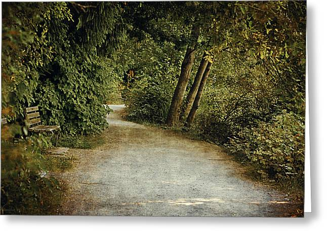 Lost Lagoon Path Greeting Card by Maria Angelica Maira
