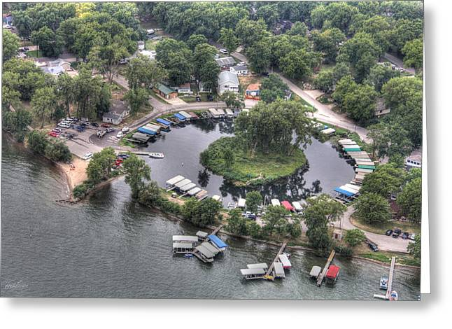 Lazy Lagoon - West Lake Okoboji II Greeting Card by Gary Gunderson