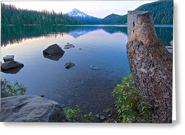 Greeting Card featuring the photograph Lost Lake Morning 81014b by Todd Kreuter