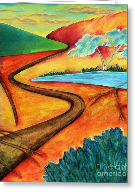 Greeting Card featuring the painting Lost Land 2 by Elizabeth Fontaine-Barr