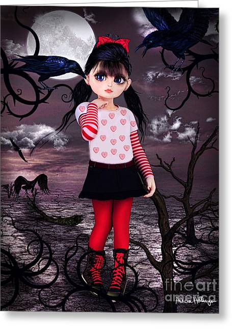 Lost Little Girl Greeting Card