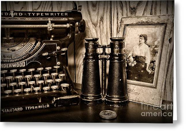 Lost Love In Black And White Greeting Card by Paul Ward