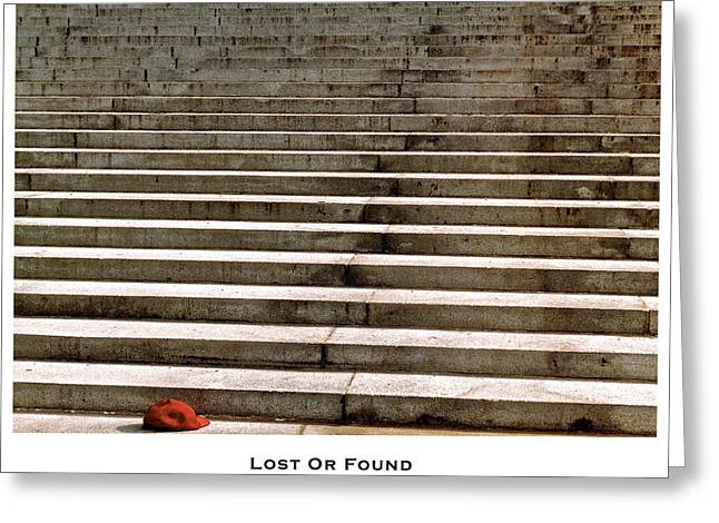 Lost Or Found Greeting Card by Lorenzo Laiken