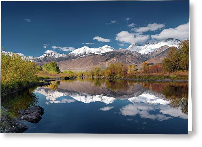 Lost River Range Reflection Greeting Card