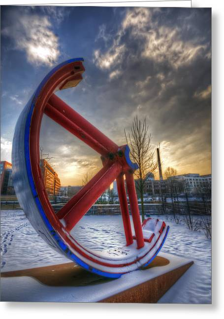 Lost Wheel Greeting Card by Nathan Wright