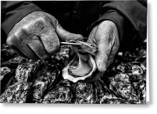 L'ostreiculteur  Oyster Farmer Greeting Card