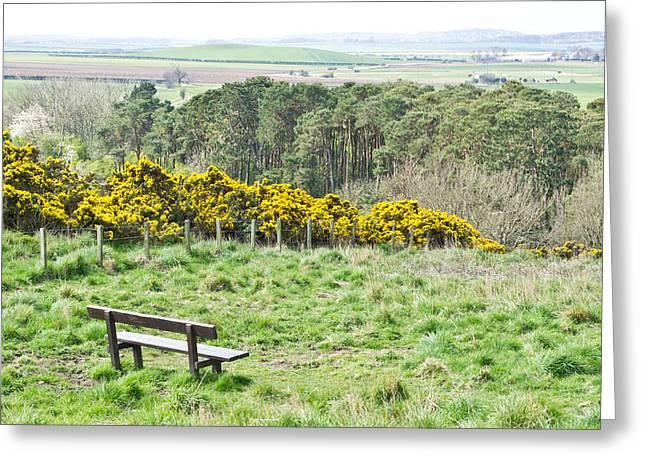 Lothian Landscape Greeting Card by Tom Gowanlock