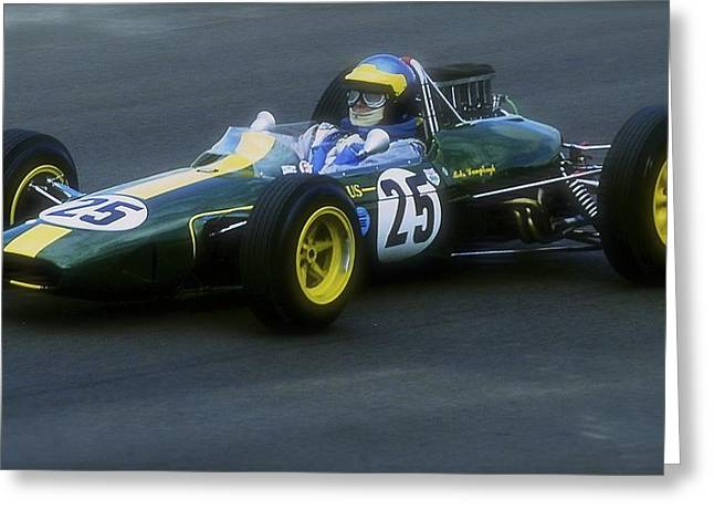 Lotus 1960s Racing Car Greeting Card by John Colley