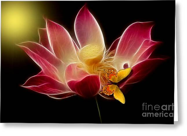 Lotus Beauty Greeting Card by Madeline  Allen - SmudgeArt