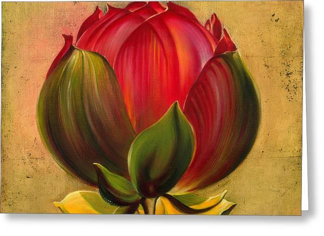Lotus Bulb Greeting Card