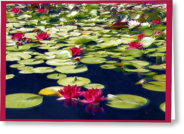 Lotus Dream Greeting Card by Kurt Van Wagner
