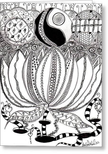 Lotus Flower Greeting Card by Barbara Giordano