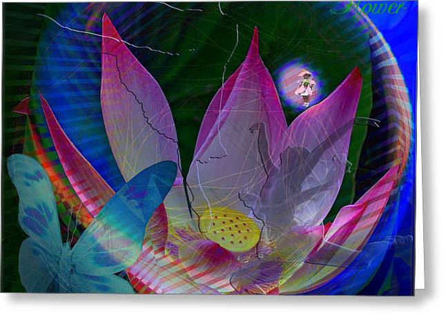 Lotus Flower Energy Greeting Card