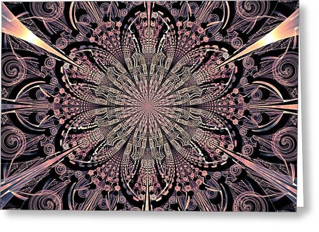 Lotus Gates Greeting Card by Anastasiya Malakhova