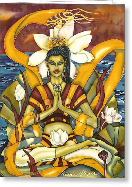 Lotus Pose Greeting Card