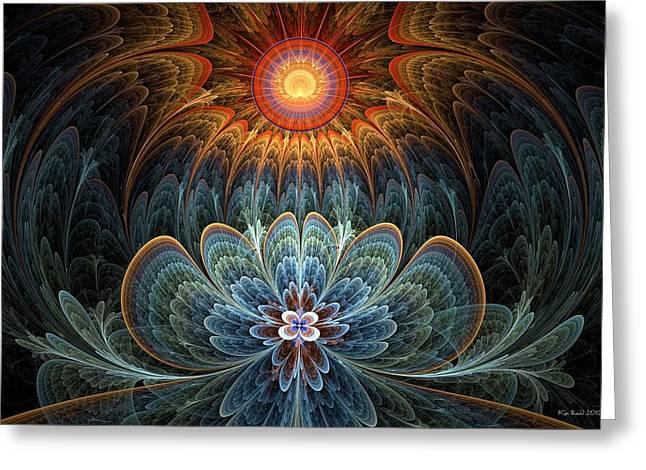 Lotus Rising Greeting Card by Kim Redd