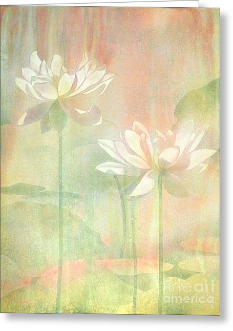 Lotus Greeting Card by Robert Hooper