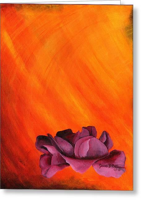 Lotus Rose Greeting Card