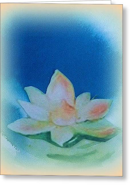 Lotus Song Greeting Card by Wendy Wiese