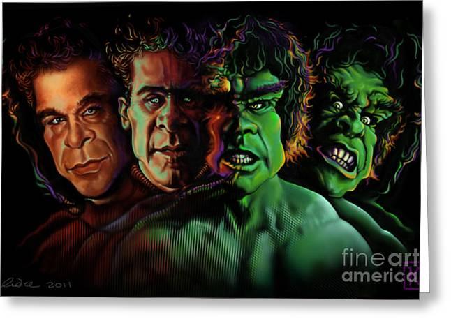 Lou Ferrigno Hulk Greeting Card