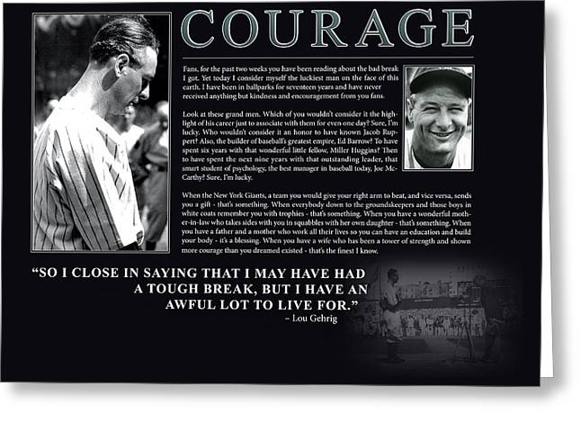 Lou Gehrig Courage  Greeting Card by Retro Images Archive