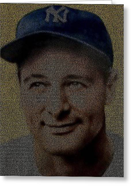 Lou Gehrig Speech Portrait Mosaic Photograph By Paul Van Scott