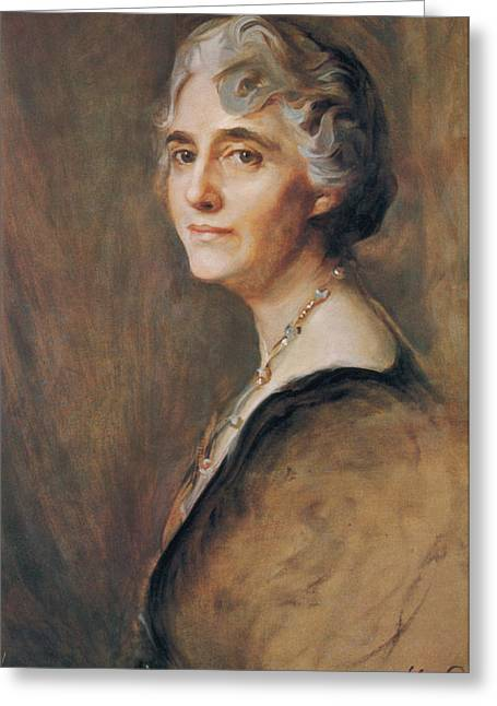 Lou Hoover, First Lady Greeting Card by Science Source