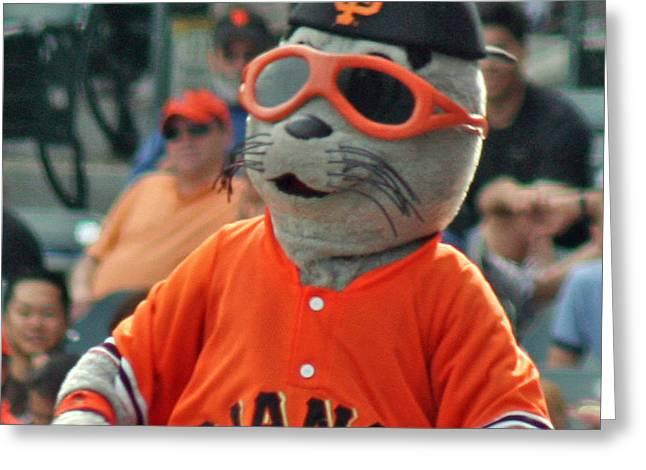 Lou Seal San Francisco Giants Mascot Greeting Card