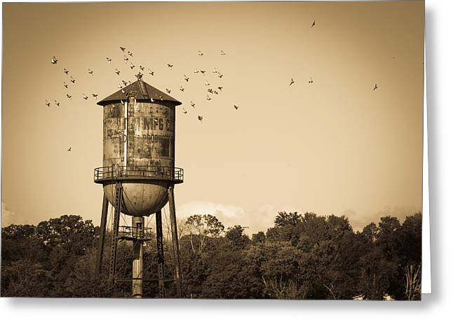 Loudon Water Tower Greeting Card by Melinda Fawver