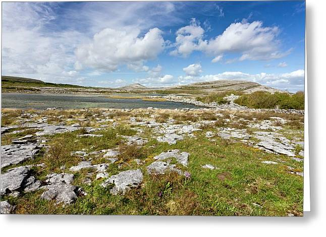 Lough Geallain And Mullagh More Greeting Card by Bob Gibbons