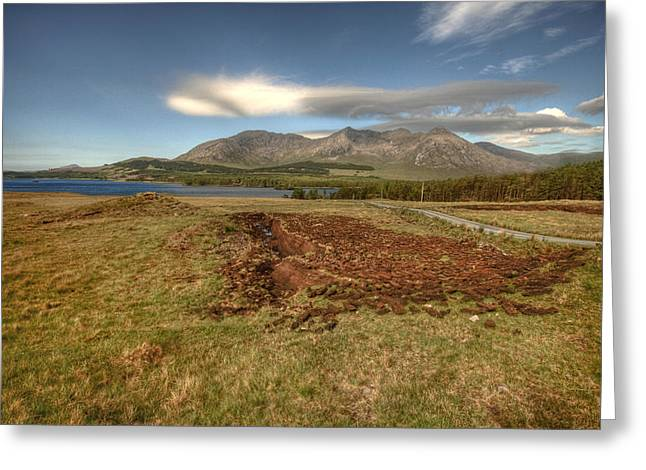 Lough Inagh Valley View Greeting Card by John Quinn