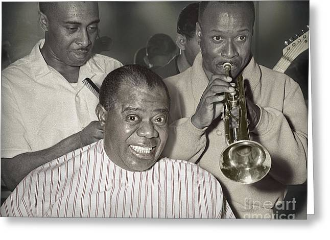 Louie Armstrong Haircut 1961 Greeting Card