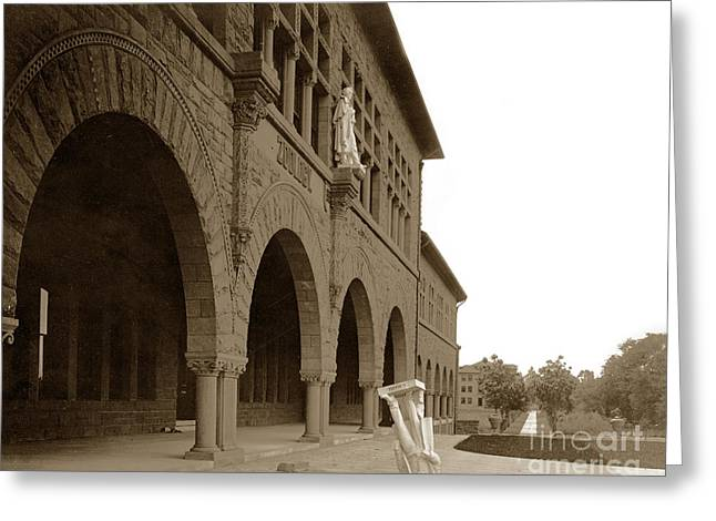 Louis Agassiz In The Concrete Most Famous Image Associated With Stanford University 1906 Earthquake Greeting Card by California Views Mr Pat Hathaway Archives