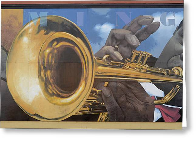 Louis Armstrong Greeting Card by Bob Christopher