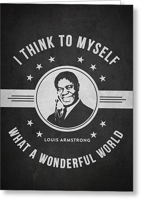Louis Armstrong - Dark Greeting Card by Aged Pixel