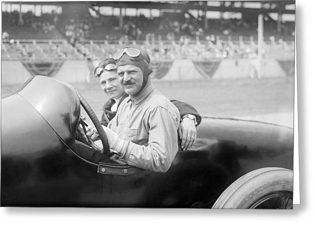 Louis Chevrolet, Us Race Car Driver Greeting Card by Science Photo Library