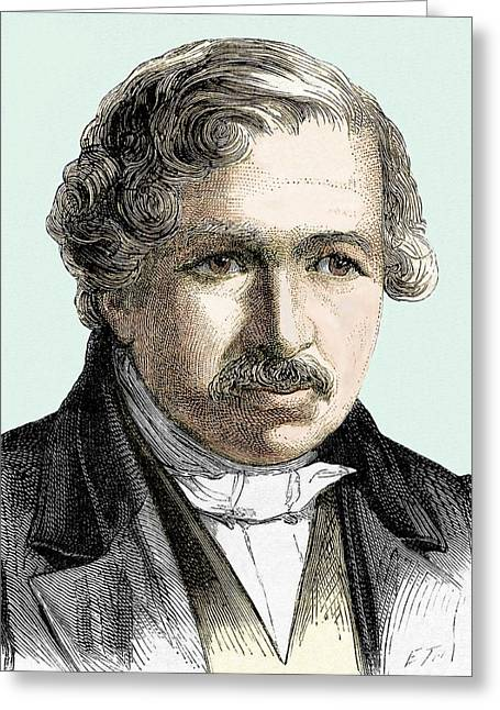 Louis Daguerre Greeting Card by Sheila Terry