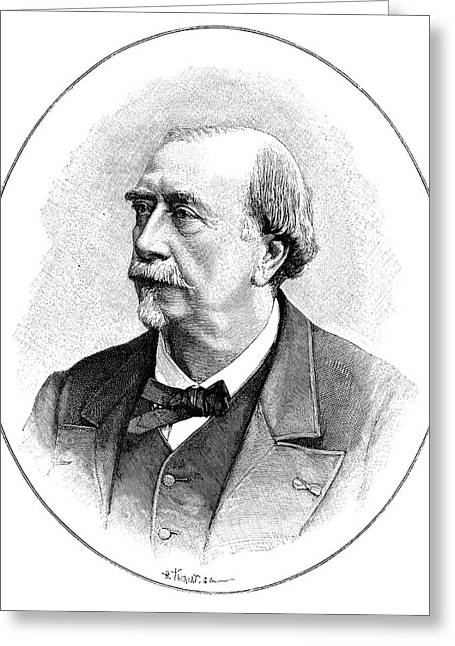 Louis Figuier Greeting Card by Science Photo Library