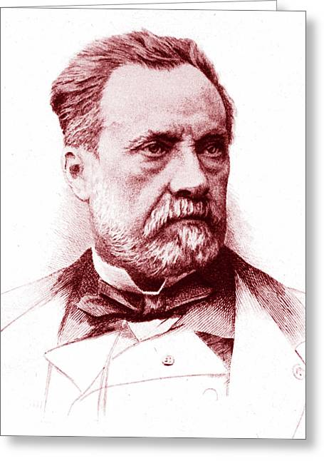 Louis Pasteur Greeting Card by Collection Abecasis