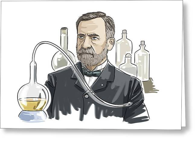 Louis Pasteur Greeting Card by Harald Ritsch