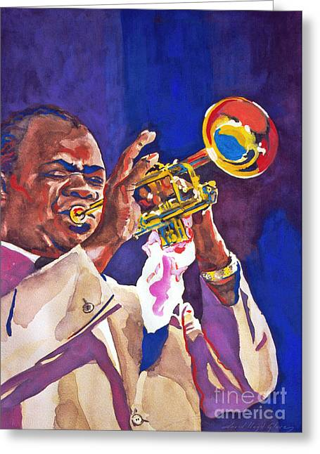 Louis Satchmo Armstrong Greeting Card by David Lloyd Glover