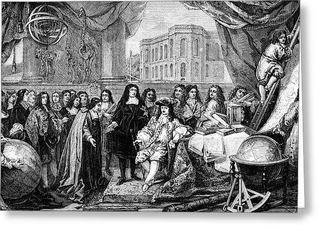 Louis Xiv At Opening Of Paris Observatory Greeting Card