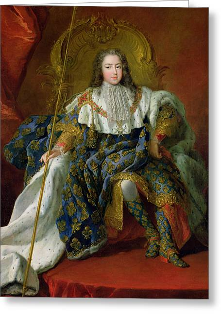 Louis Xv Greeting Card by Alexis Simon Belle