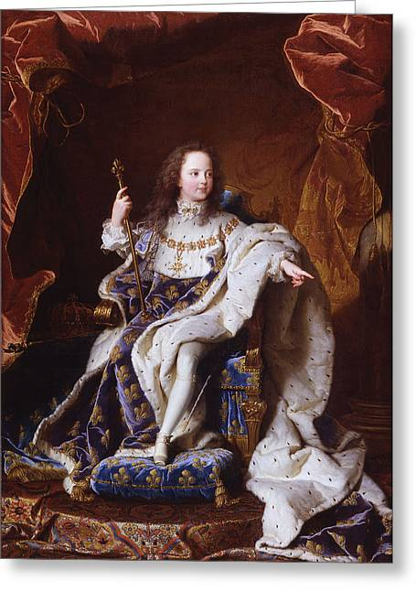 Louis Xv Of France Greeting Card by Mountain Dreams
