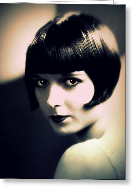 Louise Brooks Portrait Greeting Card by Rosie Mills