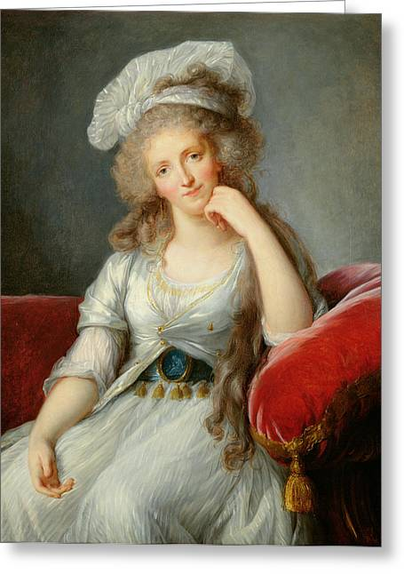 Louise-marie Adelaide, Duchesse Dorleans Oil On Canvas See Also 91622 Greeting Card by Elisabeth Louise Vigee-Lebrun