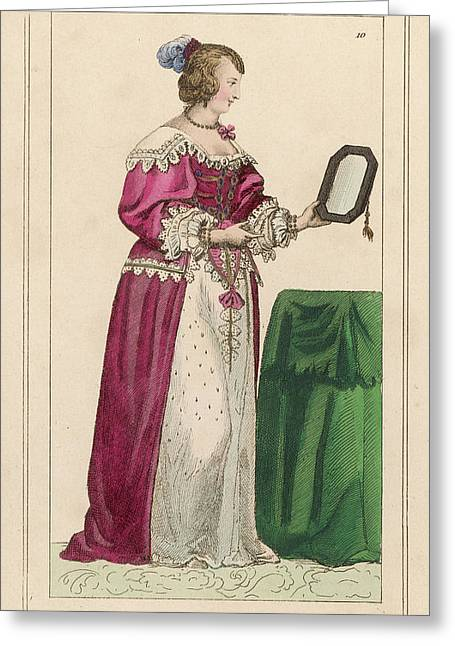 Louise Mottier De La Fayette  French Greeting Card by Mary Evans Picture Library